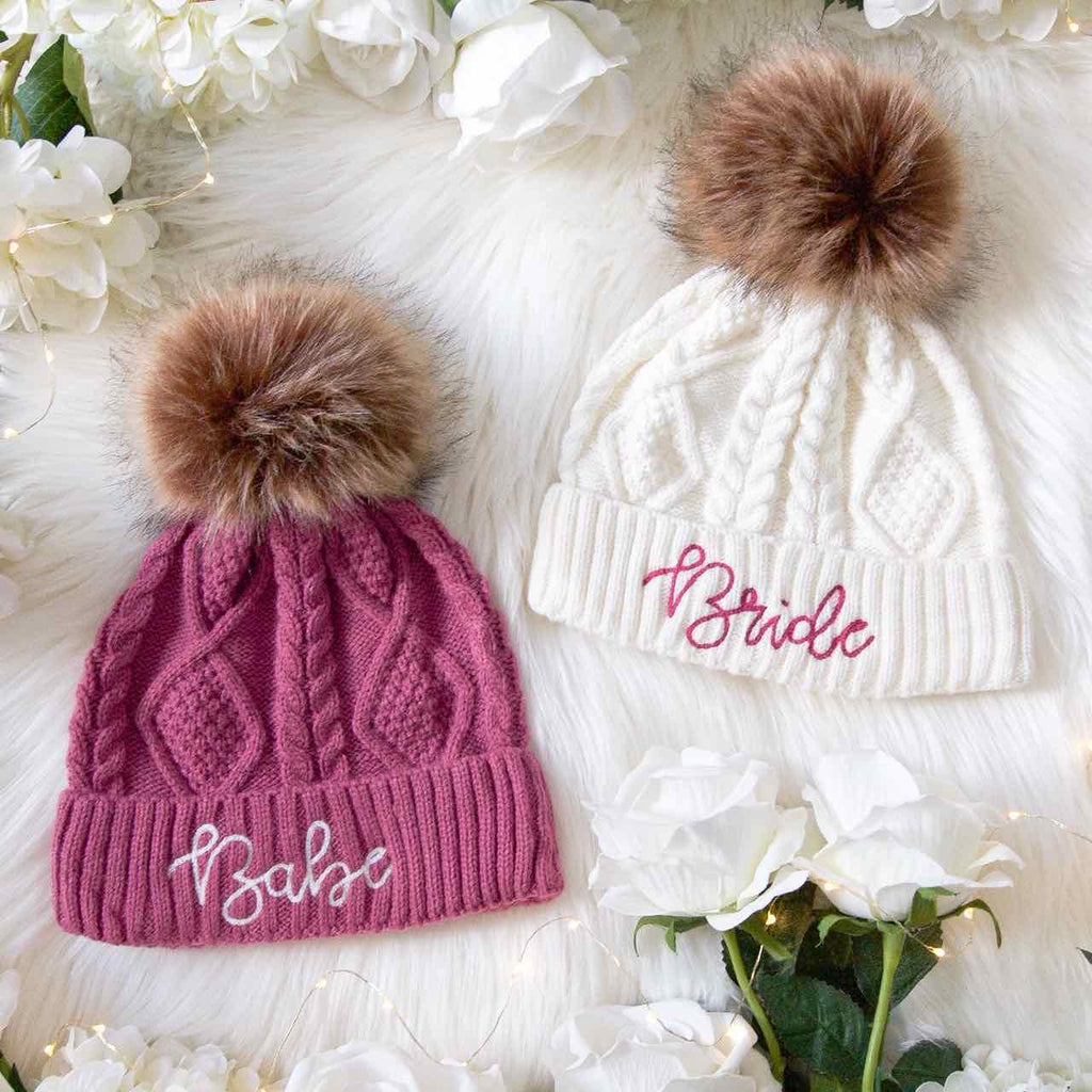 Bachelorette Party Beanies | Winter Bachelorette Party | Bride Beanie