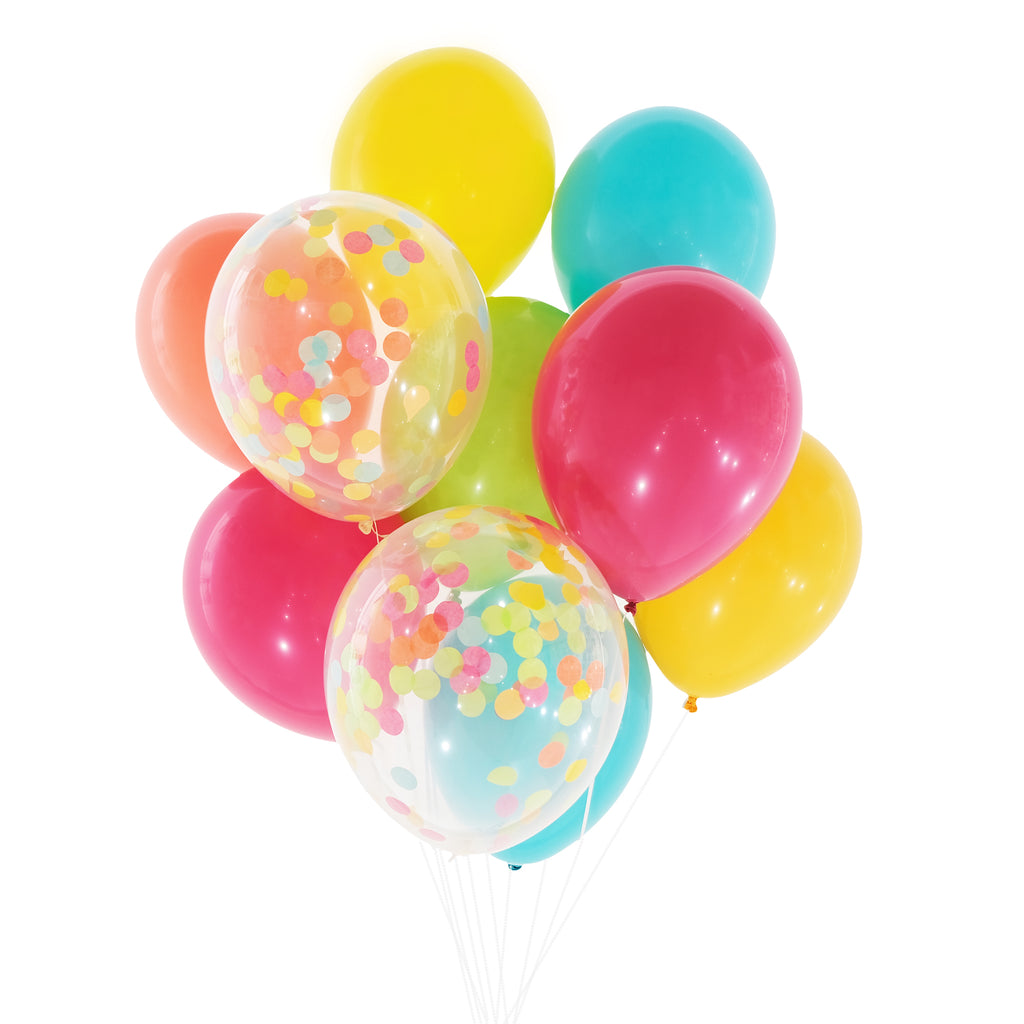 Rainbow Bright Confetti Balloon Bundle