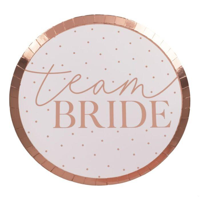 Team Bride Bachelorette Party Plates