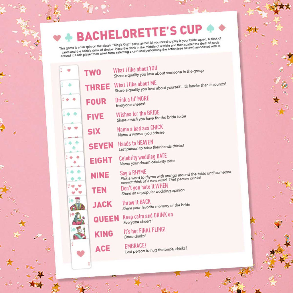 Free Bachelorette Party Game Printable, Download, PDF | Bachelorette's Cup