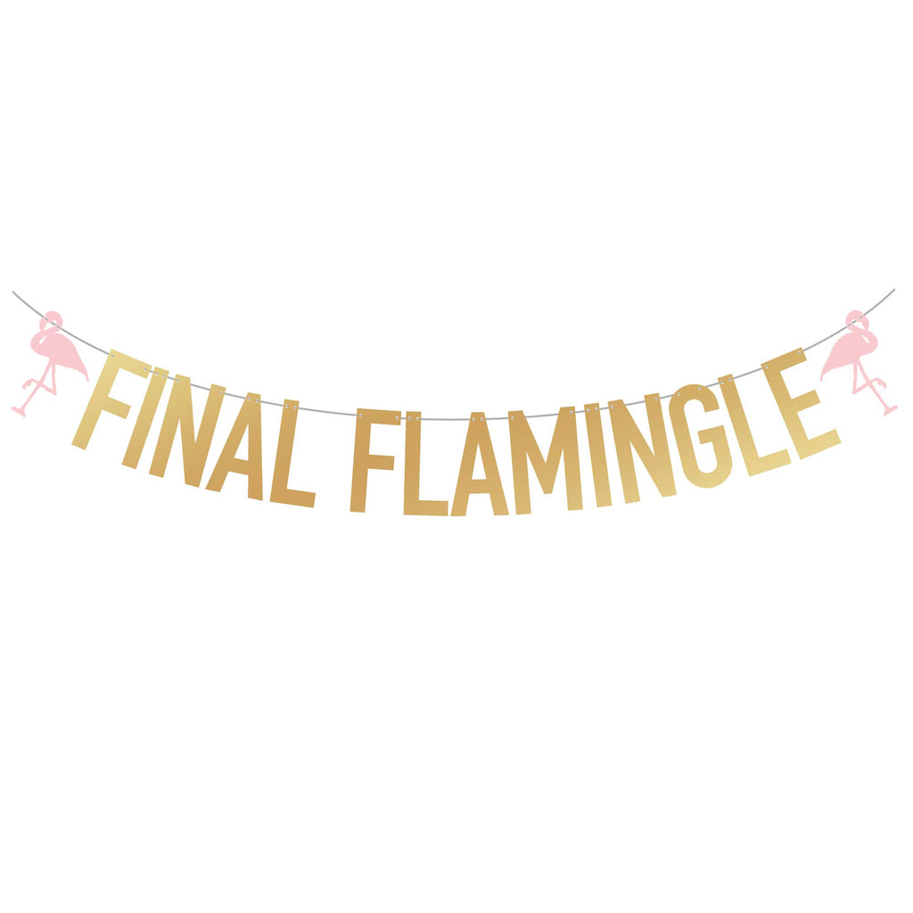 Beach Bachelorette Party Banner | Final Flamingle | Stag & Hen