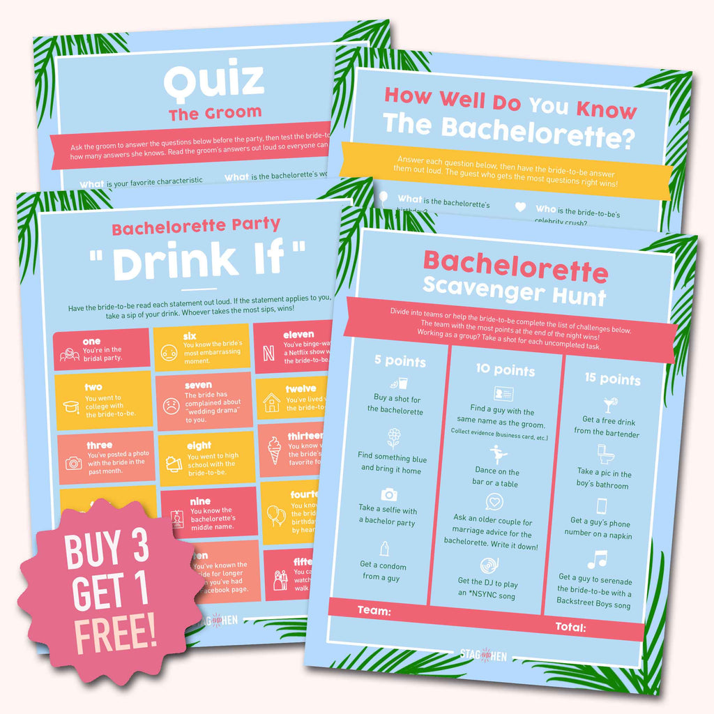 Beach Bachelorette Party Games | Digital Download | Printable PDF Party Activity