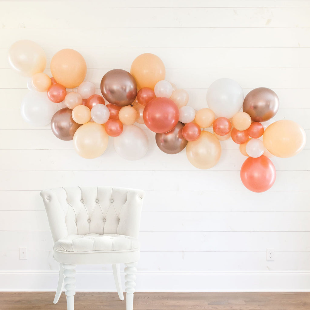 Blush Champagne DIY Bachelorette Party Balloon Garland | Bachelorette Party Decorations, Favors, Accessories, Supplies