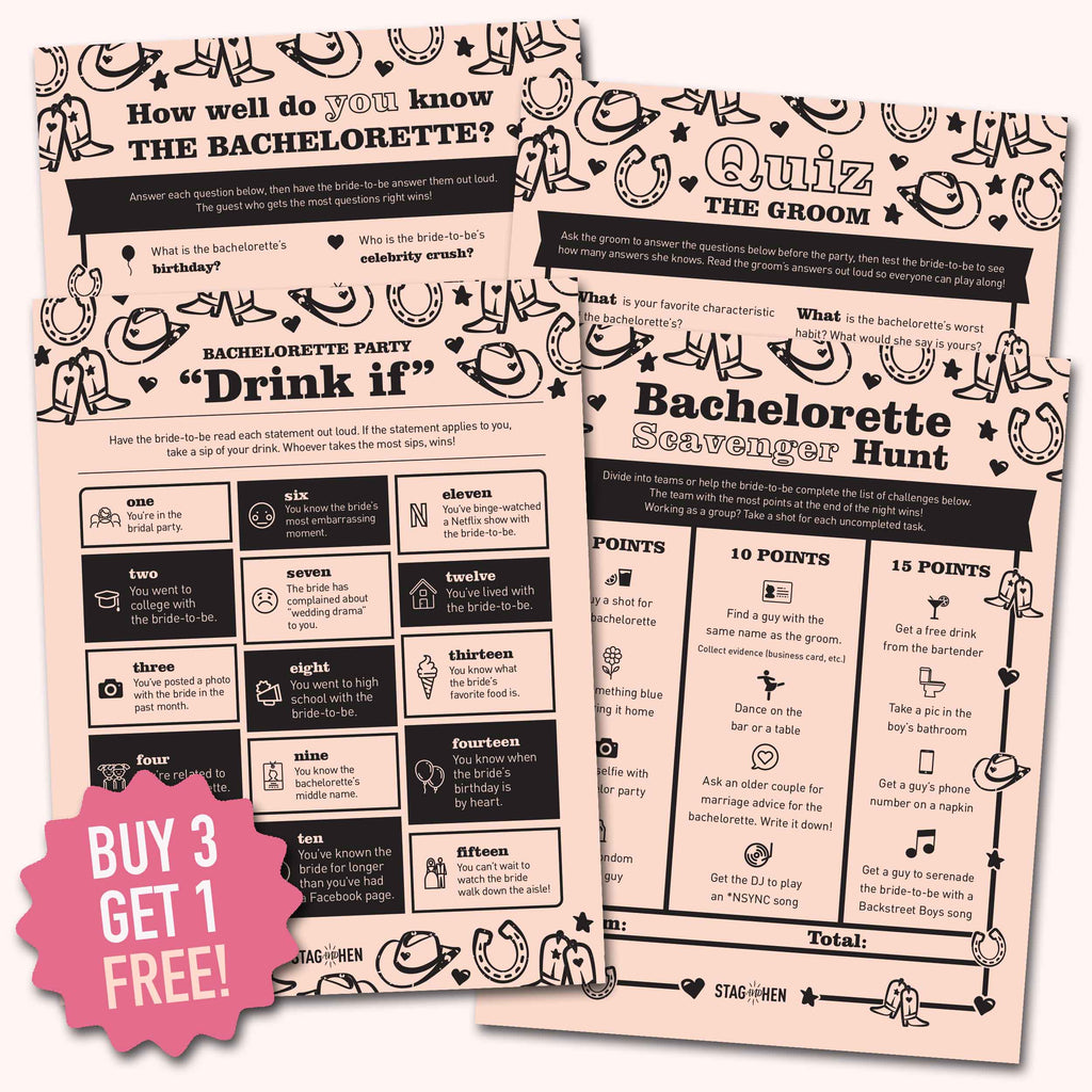 Bride's Last Ride Bachelorette Party Games | Digital Download | Printable PDF Party Activity