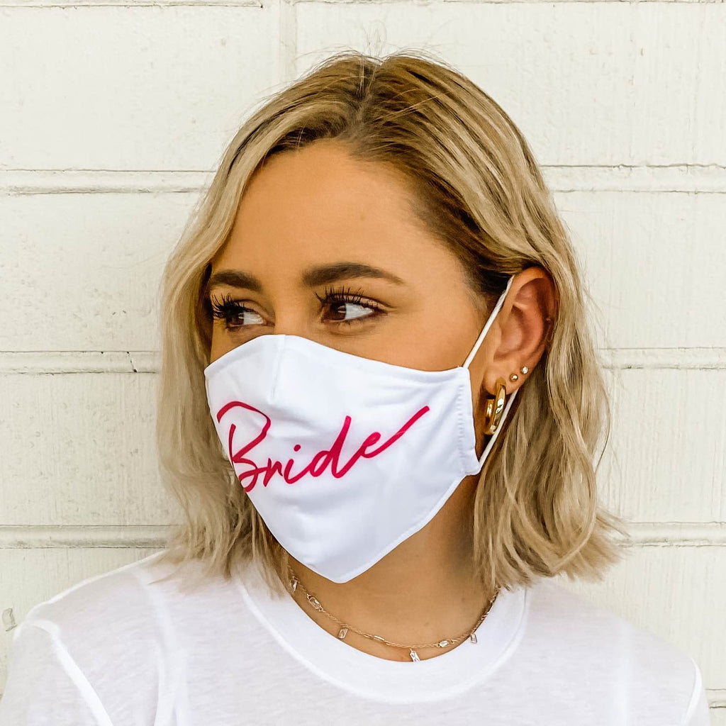 Bride's Babes Bachelorette Party Face Masks for COVID-19 and Coronavirus