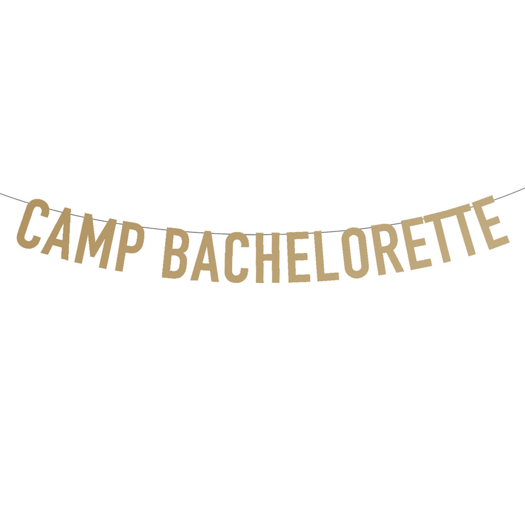 Camp Bachelorette Party Banner