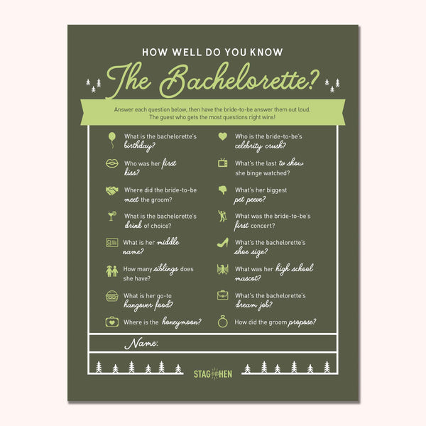 Camp Bachelorette Party Games