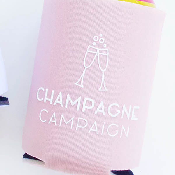 Champagne Campaign Koozies - Stag & Hen