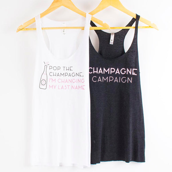 Champagne Campaign Tanks - Stag & Hen