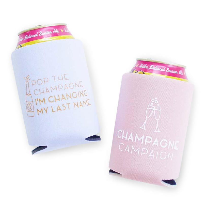 Bachelorette Party Koozies - Champagne Campaign