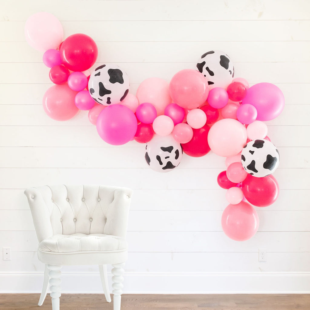 Country Western Nashville DIY Bachelorette Party Balloon Garland Kit | Bride's Last Ride Cow Print Bachelorette Party Decorations, Favors, Supplies, Accessories