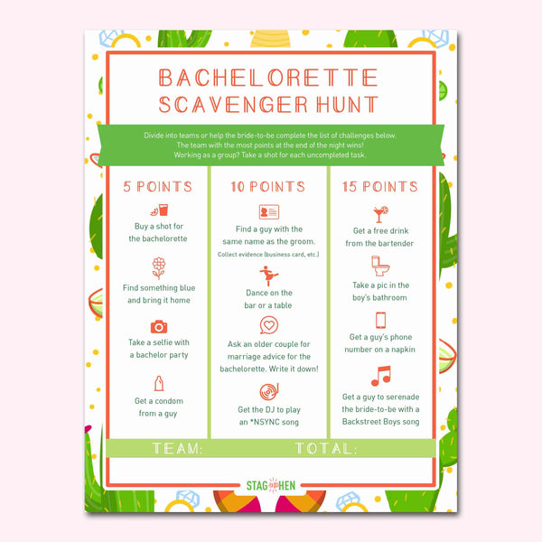 Final Fiesta Bachelorette Party Games | Digital Download | Printable PDF Party Activity