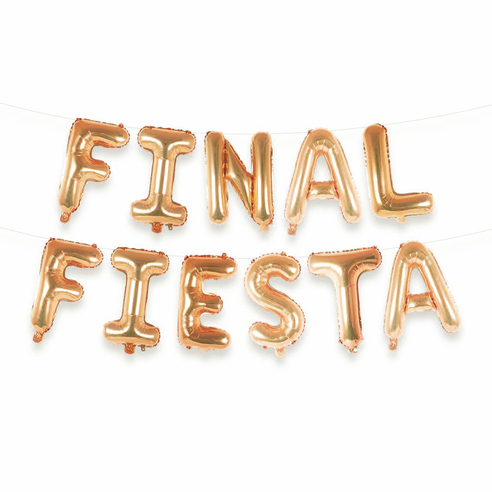 Final Fiesta Balloon Letter Kit (Rose Gold)