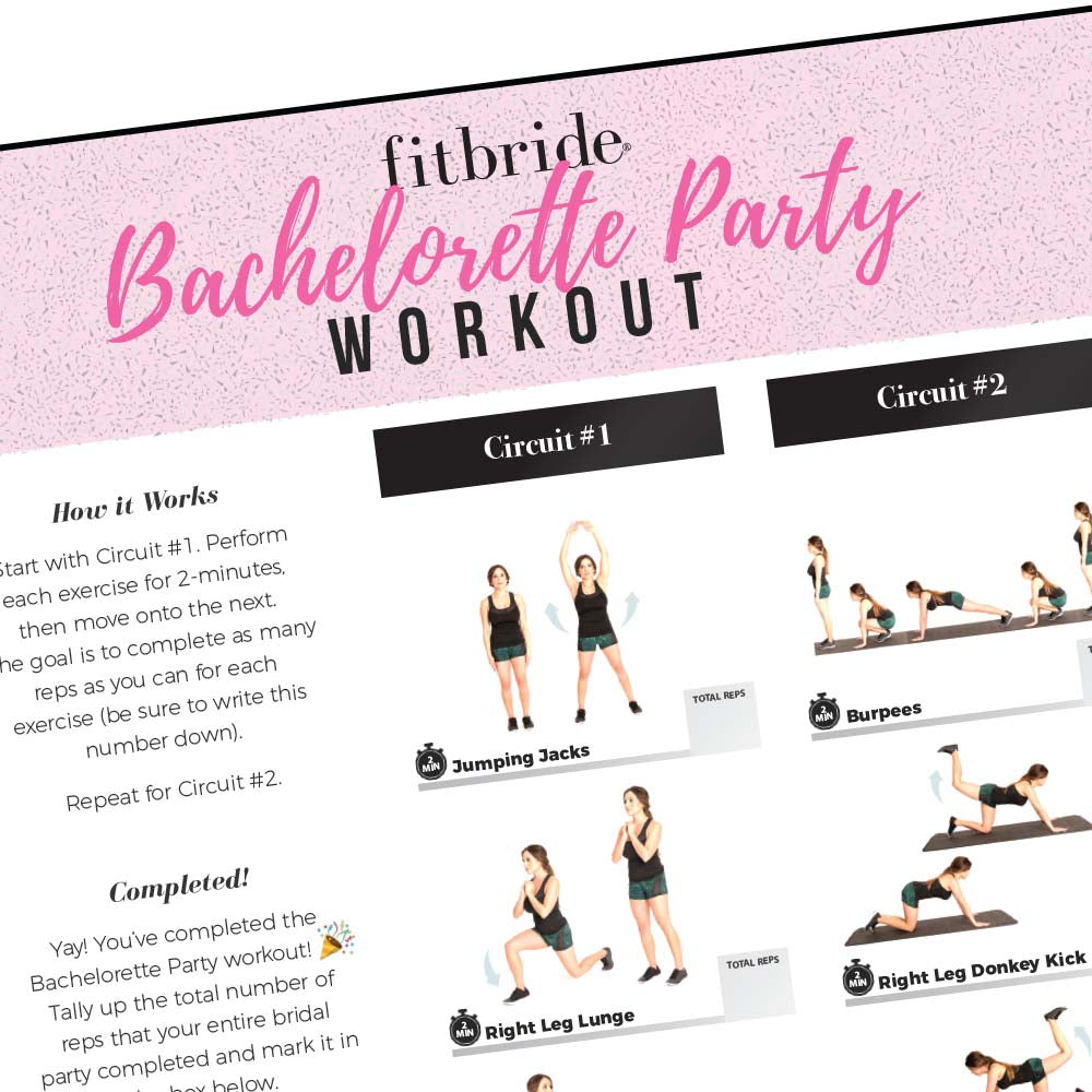 Bachelorette Bootcamp Workout - Free Digital Download – Stag