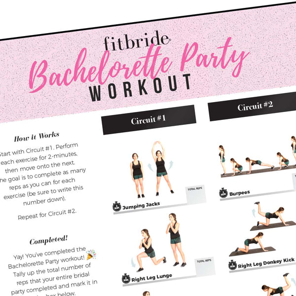 Bachelorette Bootcamp Workout - Free Digital Download - Stag & Hen