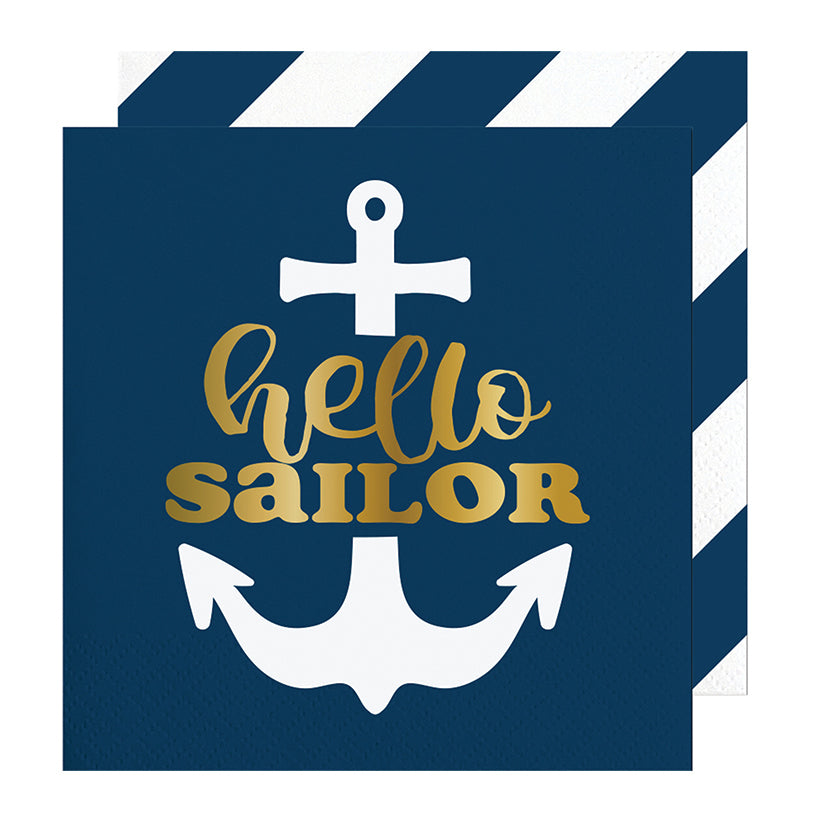 Hello Sailor Napkins - Stag & Hen