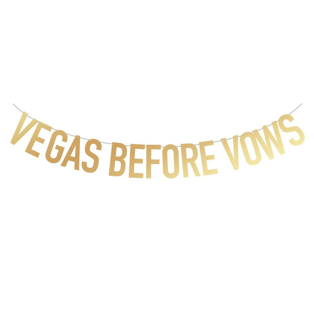 Las Vegas Bachelorette Party Banner | Vegas Before Vows | Stag & Hen
