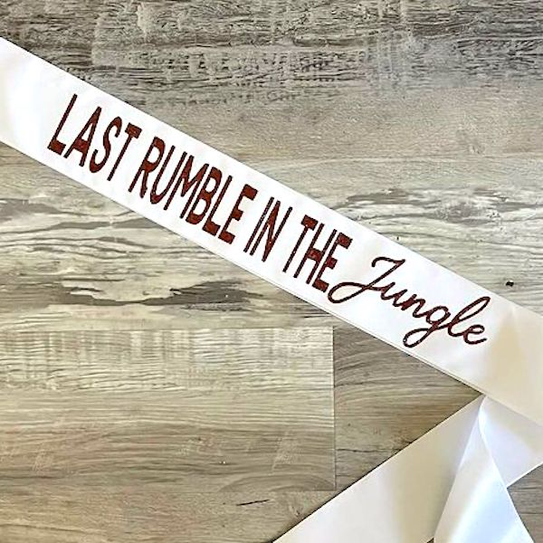 Last Rumble In the Jungle Sash