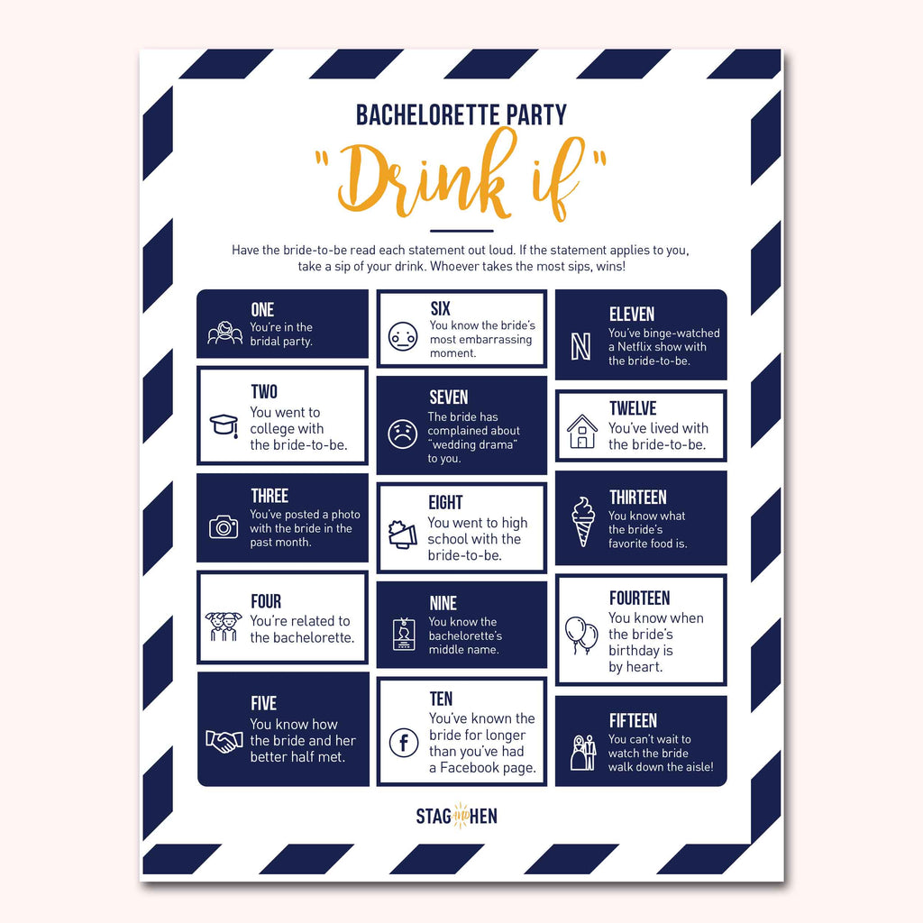 Nautical Bachelorette Party Games | Digital Download | Printable PDF Party Activity