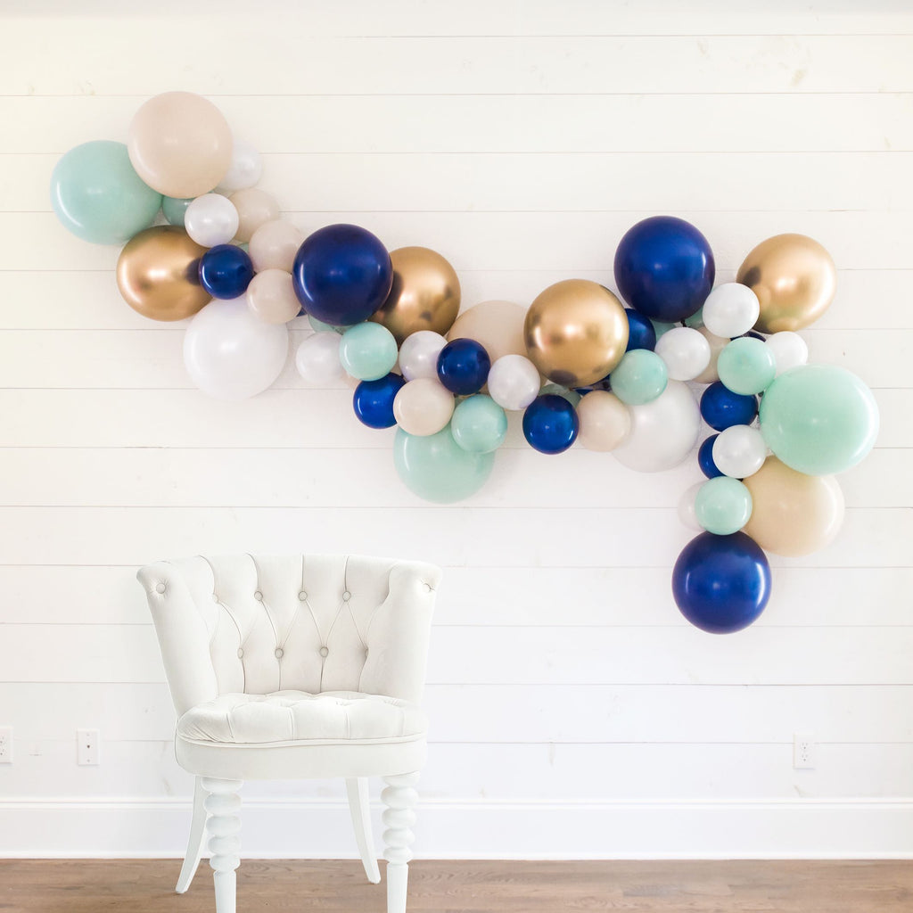 Let's Get Nauti DIY Bachelorette Party Balloon Garland | Nautical, Lake Bachelorette Party Decorations, Favors, Accessories, Supplies