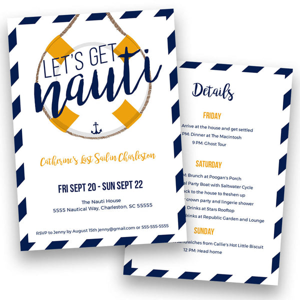 colors and design Fully Custom Nautical Bachelorette Party Can Coolers personalize by changing text