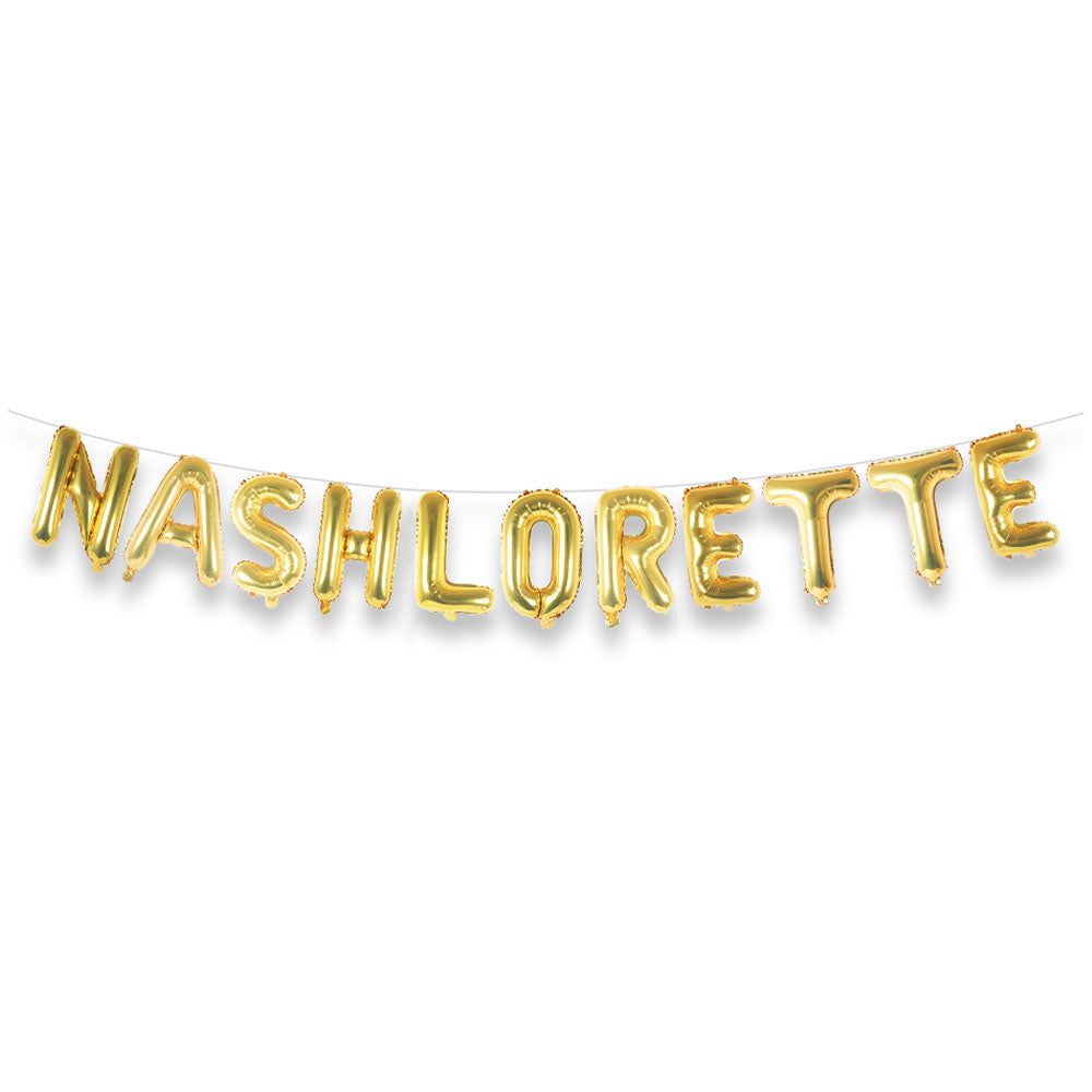 Nashlorette Balloon Letter Kit (Gold)
