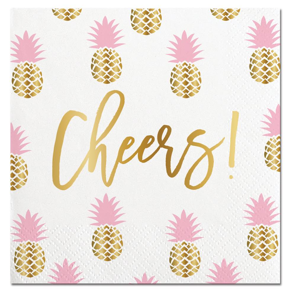 Pineapple Cheers! Napkins - Stag & Hen