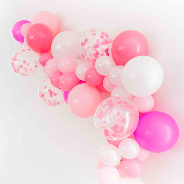 Pink DIY Bachelorette Party Balloon Garland | Bride's Babes Bachelorette Party Decorations, Favors, Accessories