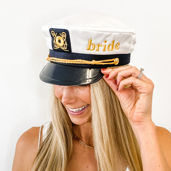 Bride's Babes Sailor Captain Hats