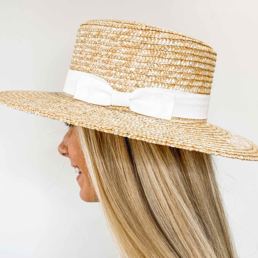 Bride's Babes Bachelorette Boater Hats