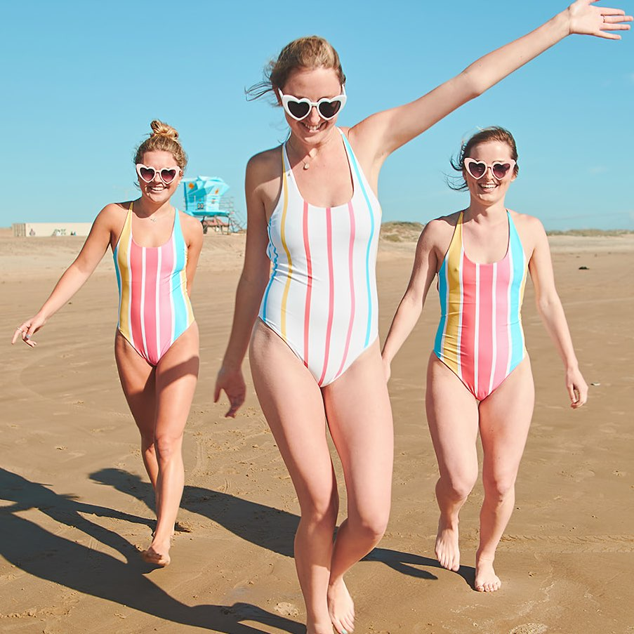 Reversible Bachelorette Party Swimsuits