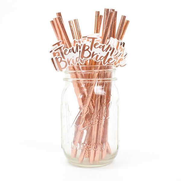 Team Bride Party Straws - Stag & Hen