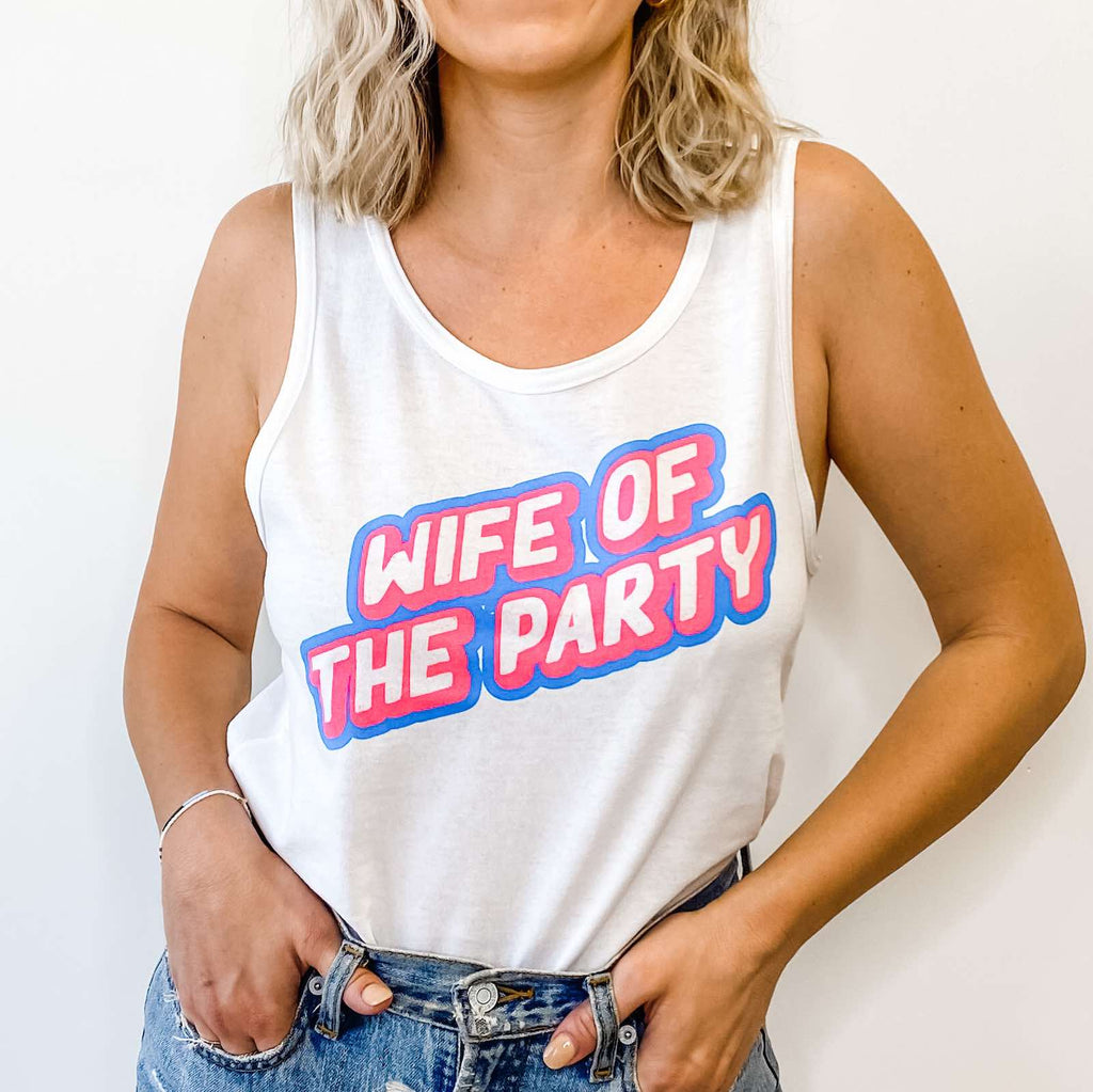Wife Of The Party Tie-Dye Bachelorette Tanks