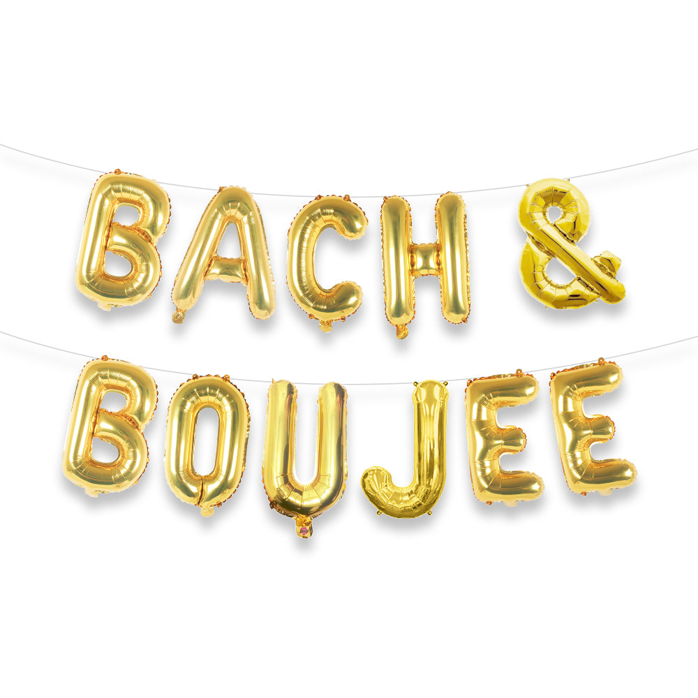 Bach & Boujee Balloon Letter Kit (Gold)