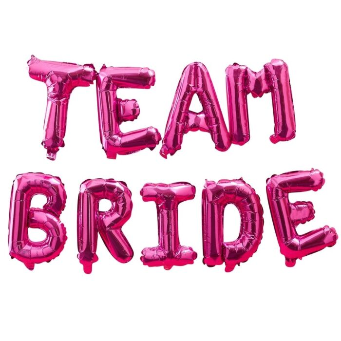 Team Bride Balloon Letter Kit (Hot Pink)
