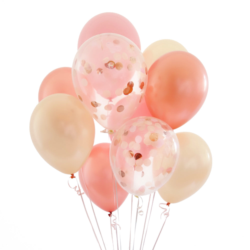 Rose Gold Confetti Balloon Bundle