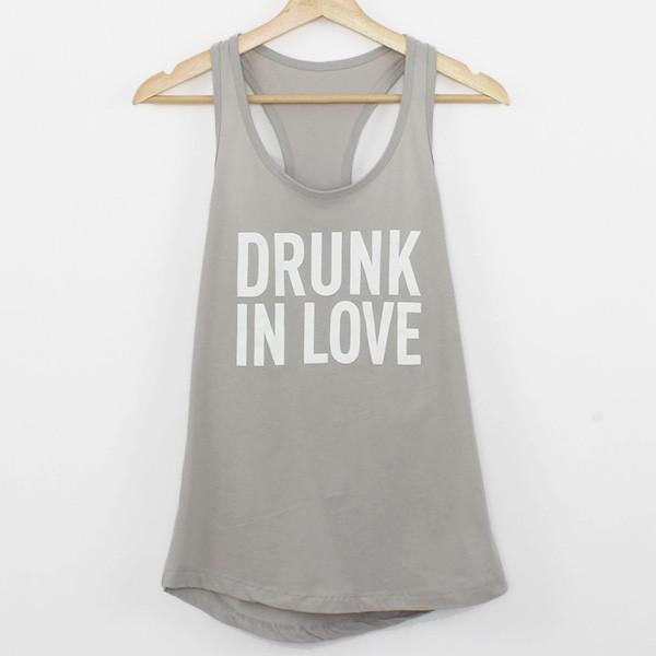 Drunk in Love Tanks - Stag & Hen