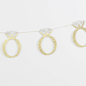 Bachelorette Party Decor - Engagement Ring Garland