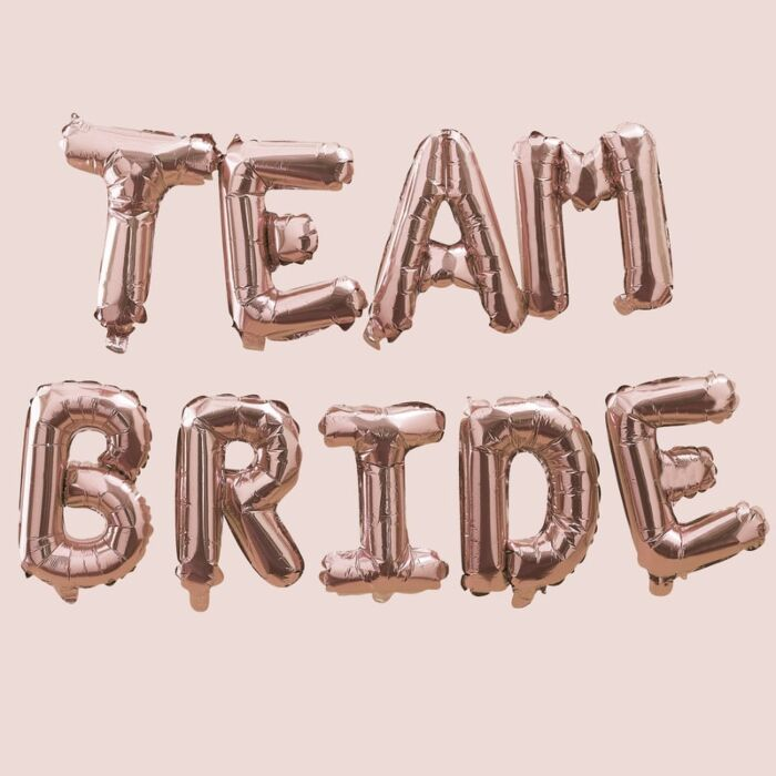 Team Bride Balloon Letter Kit (Rose Gold)