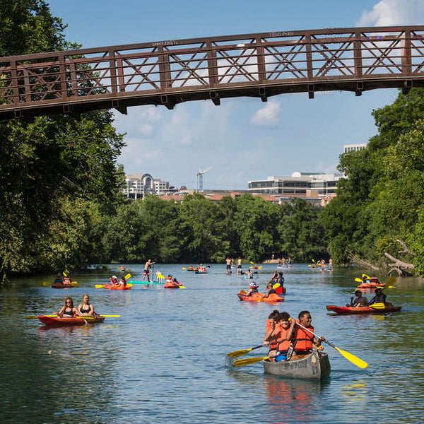 Kayaking on Lady Bird Lake with Texas Rowing Center