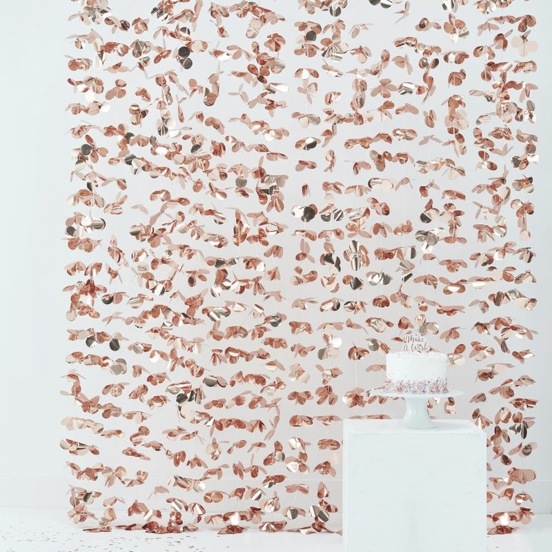 Bachelorette Party Supplies - Rose Gold Photo Booth Backdrop