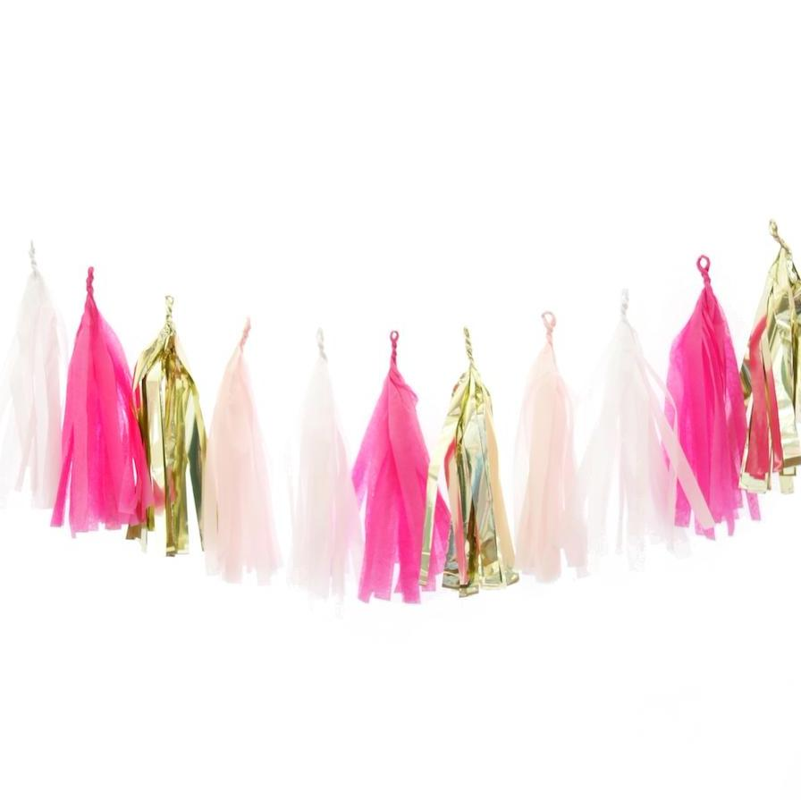 Pink Party Tassel Garland - Stag & Hen