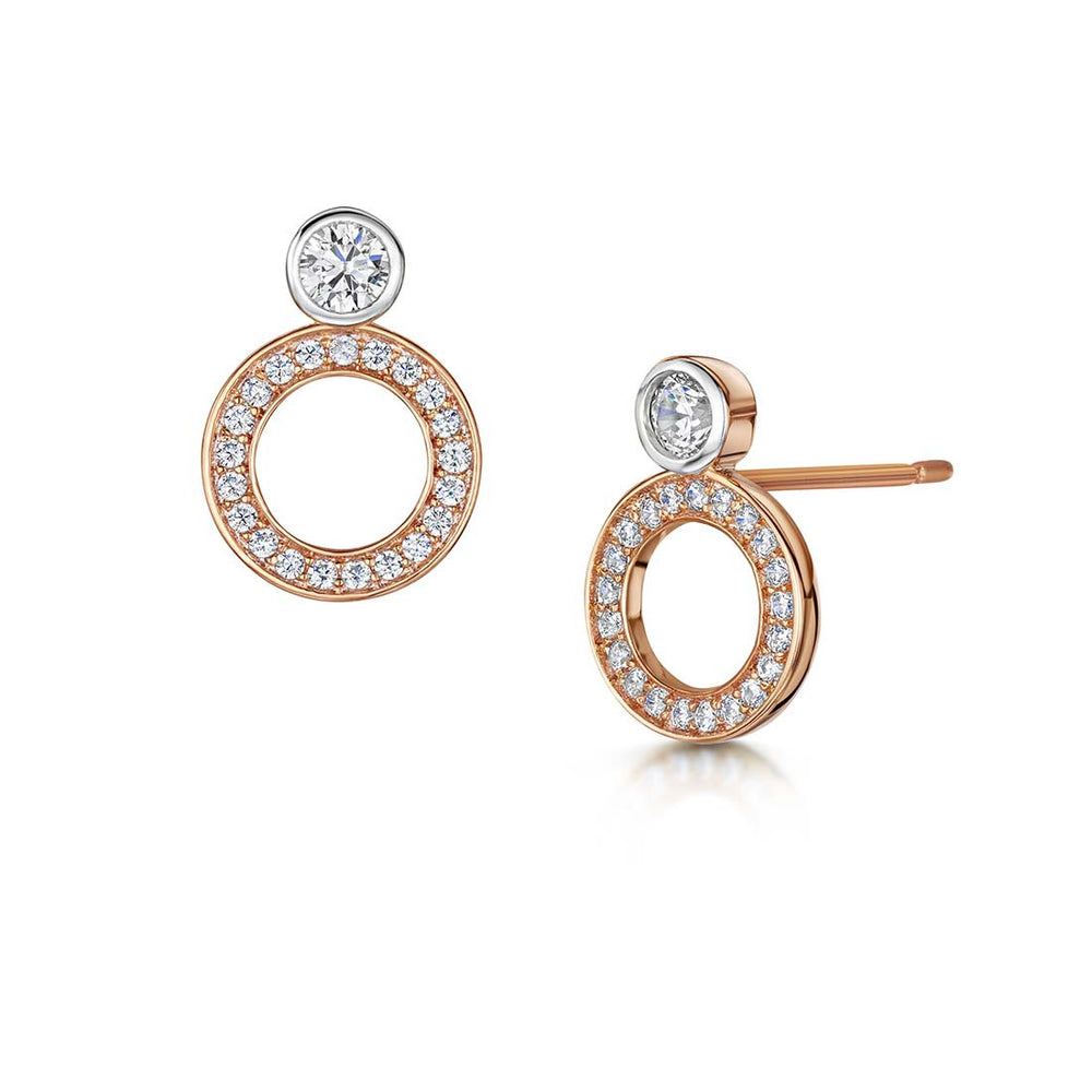 Charlotte Earrings - Rose Gold