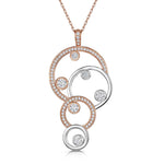 Charlotte Four Circle Pendant - Rose Gold