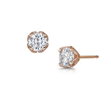 Dianna Ear solitaire Stud Earrings - Rose Gold