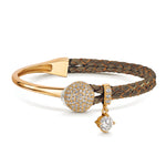 Dianna Leather Bracelet - Bronze