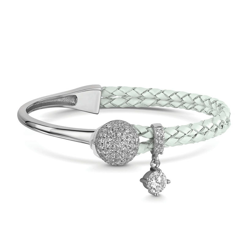Dianna Leather Bracelet - Grey
