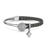 Dianna Leather Bracelet - Slate