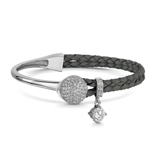 Load image into Gallery viewer, Dianna Dianna Leather Bracelet - Slate
