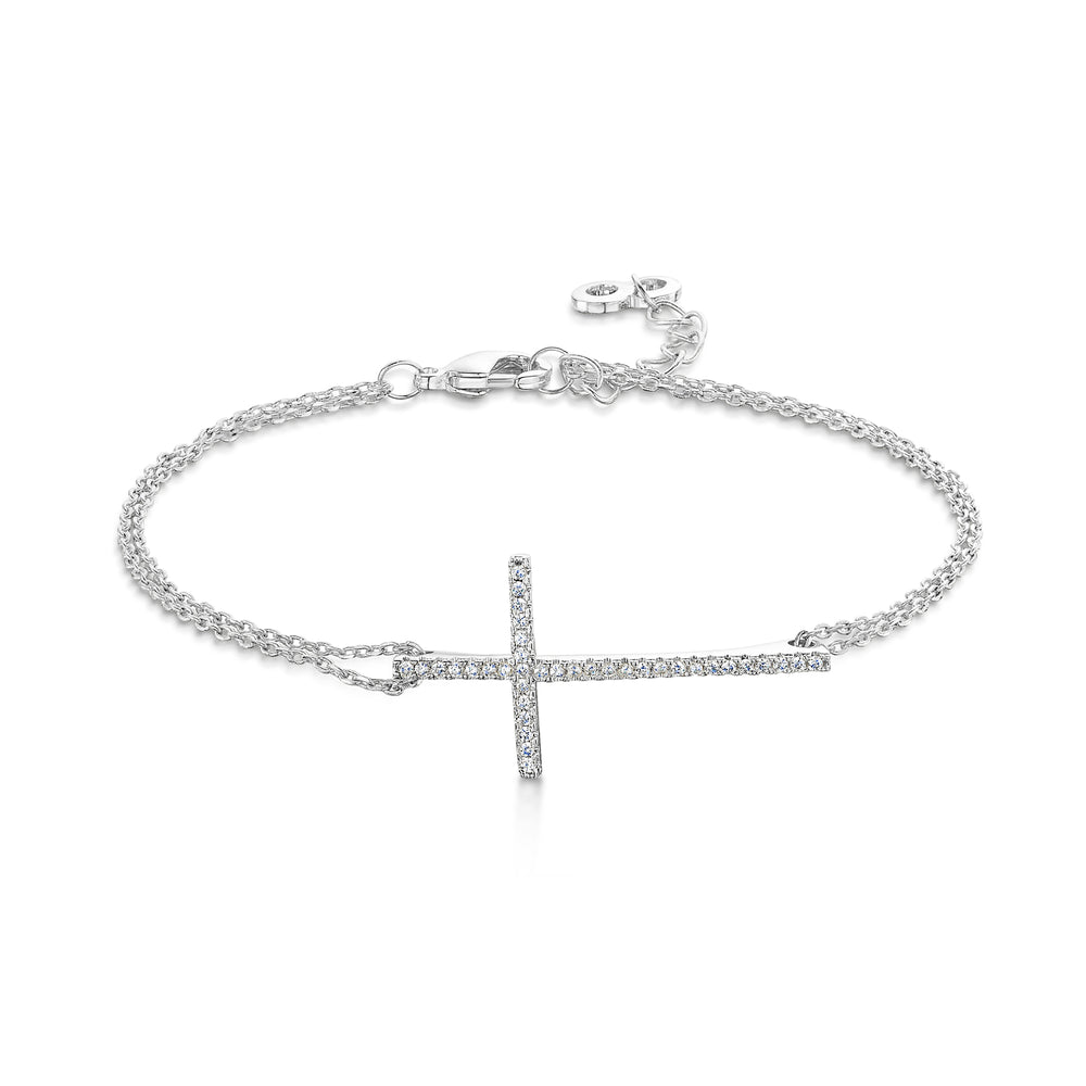 Faith Bracelet - Rhodium